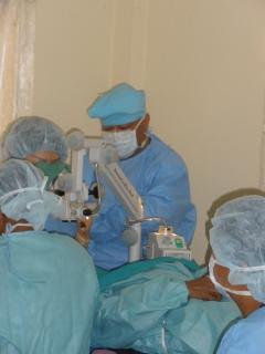 手術は1列でおこなうため交互に行います