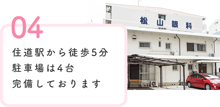 住道駅から徒歩5分駐車場は4台完備しております